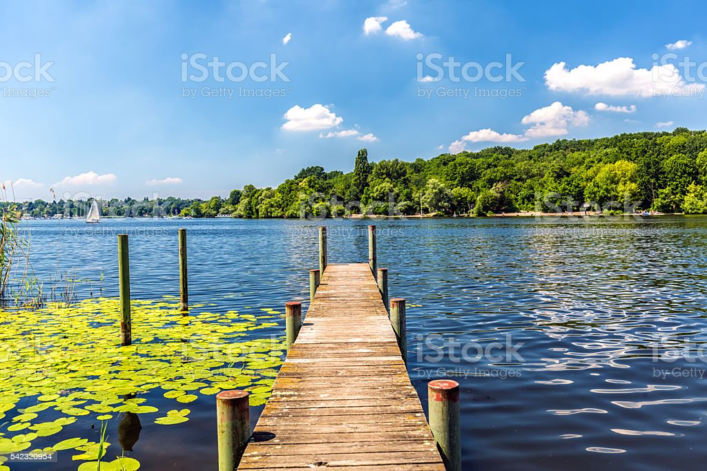 Wannsee in Berlin stock photo