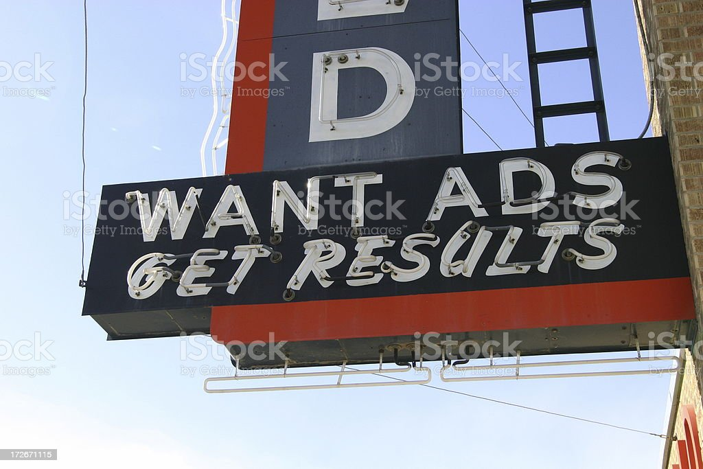 Want Ads royalty-free stock photo