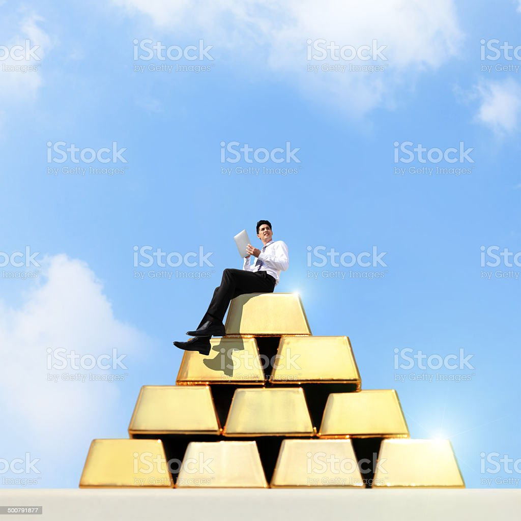 I want be rich stock photo