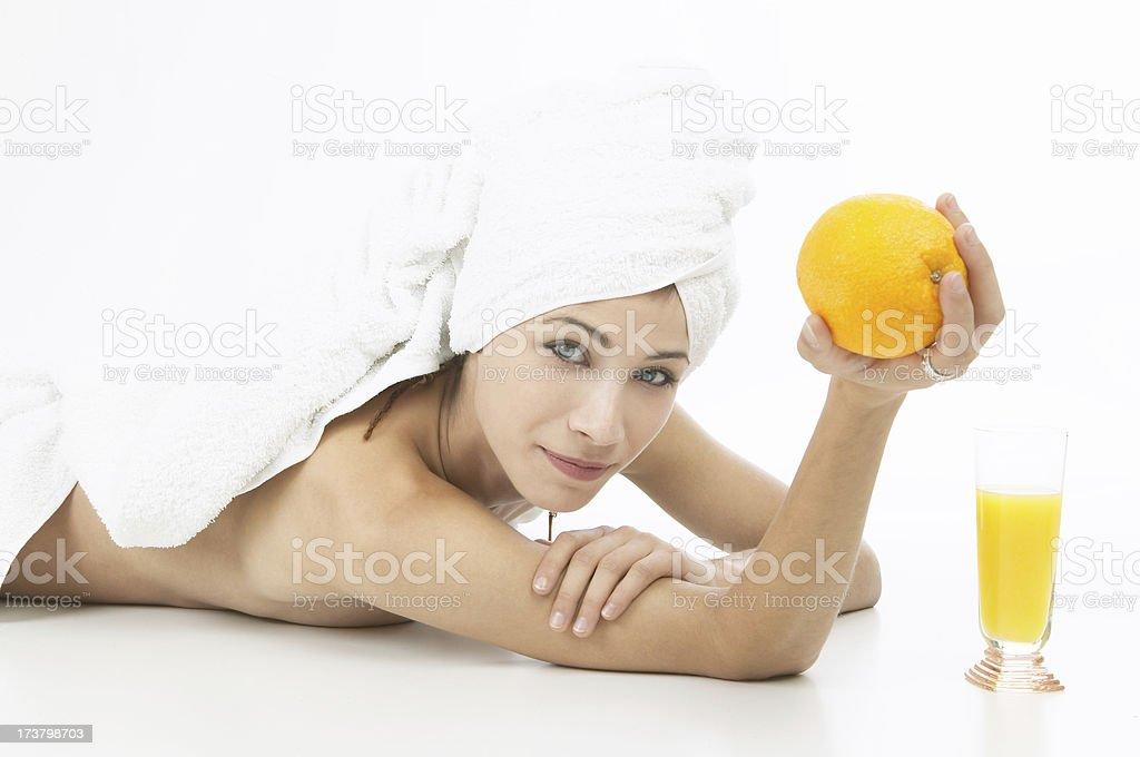 Want my orange? royalty-free stock photo