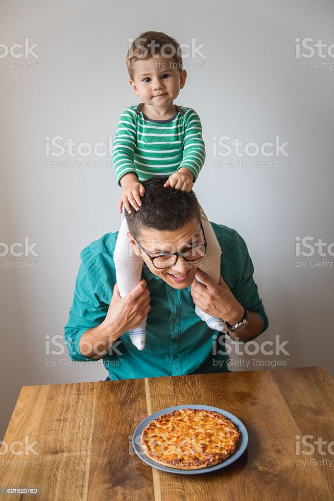 I want pizza too! stock photo