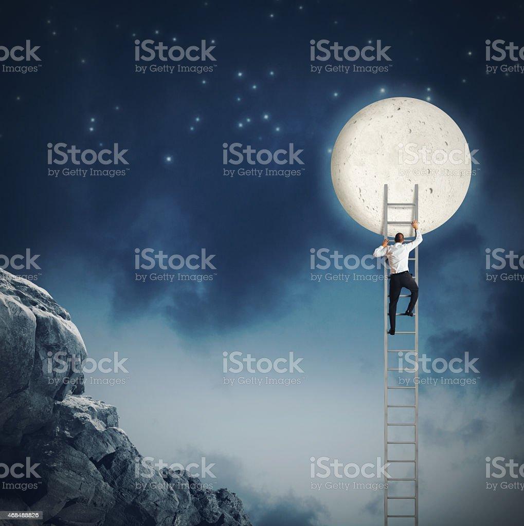 Want the moon stock photo