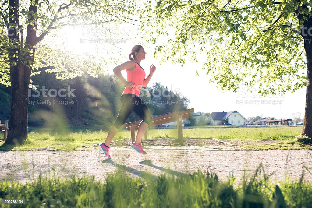 Want to be fit and healthy stock photo