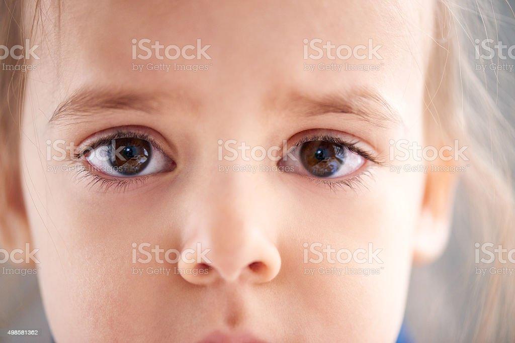 I want to be happy child stock photo