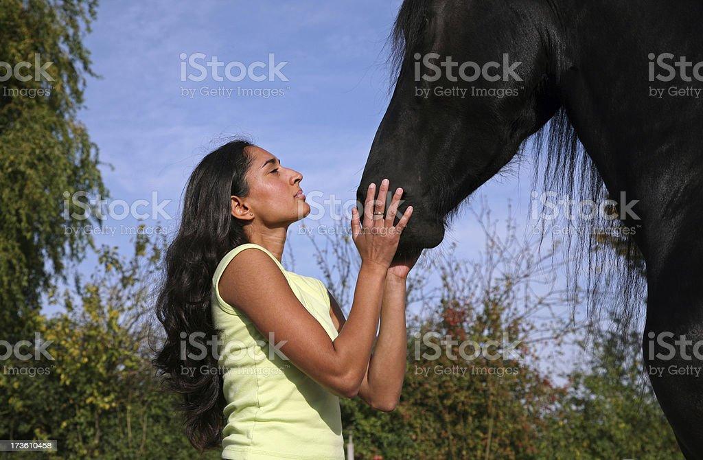 I want to kiss my horse stock photo