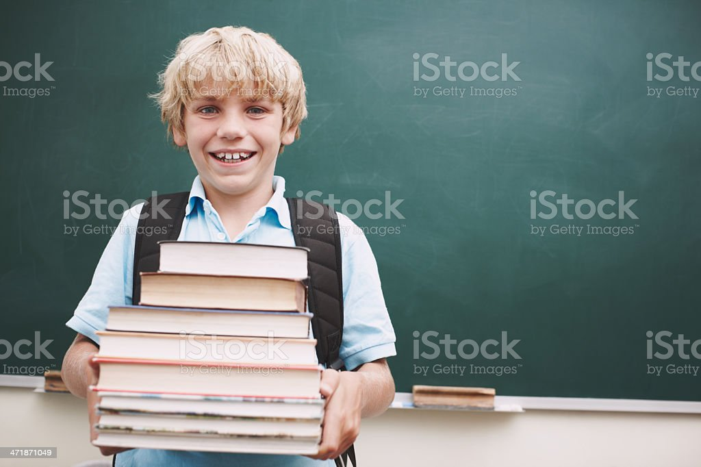 I want to pack my brain full of words! royalty-free stock photo