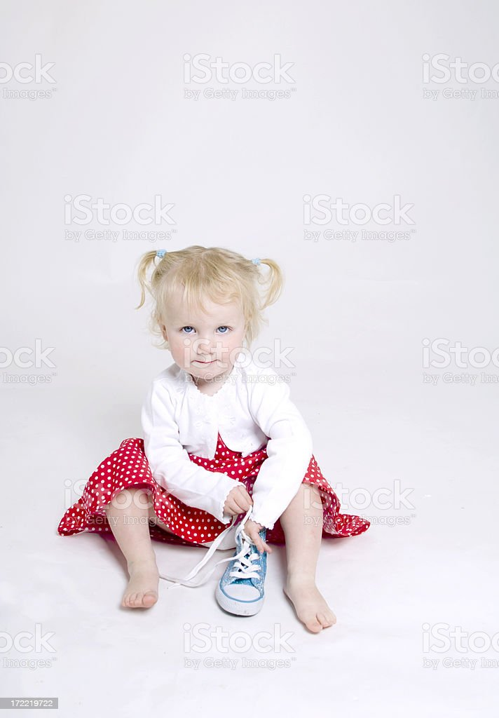I want to wear these shoes royalty-free stock photo