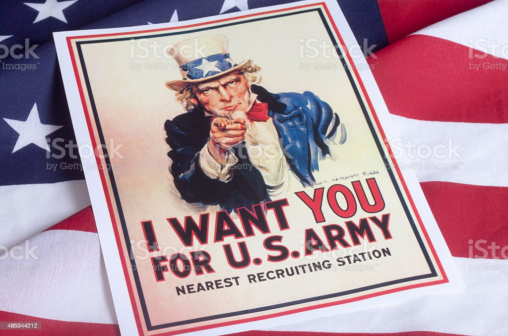 I want you - Uncle Sam stock photo