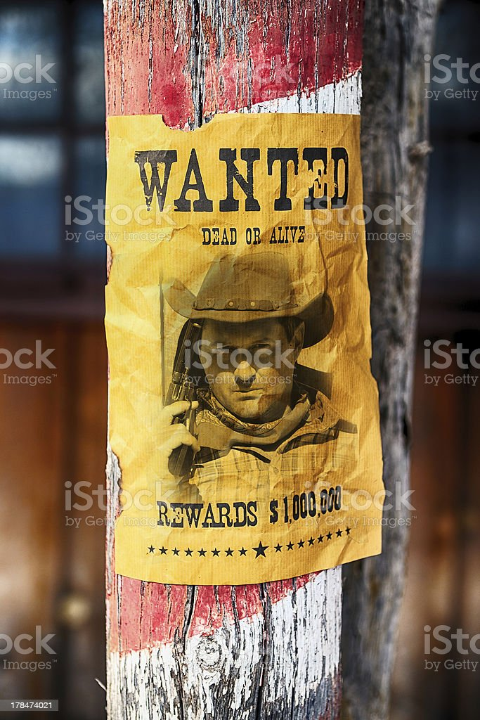 wanted farwest stock photo