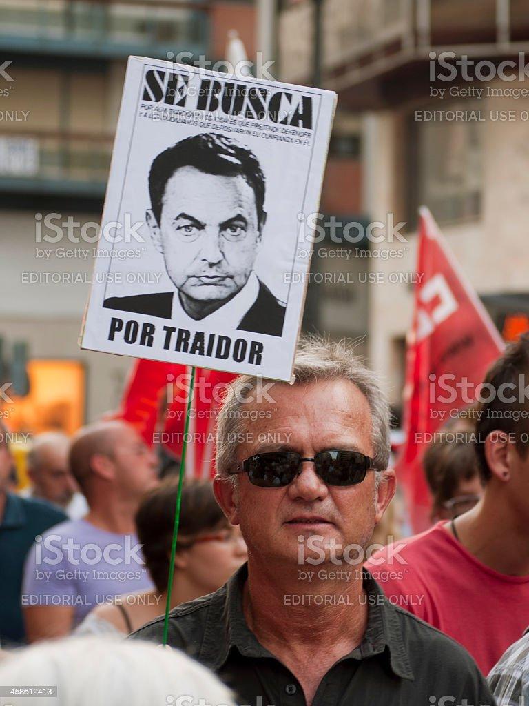Wanted for treason stock photo