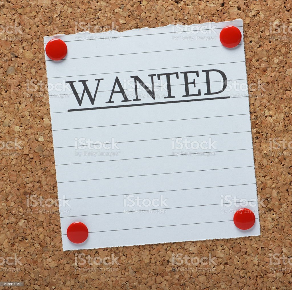 Wanted Notice stock photo