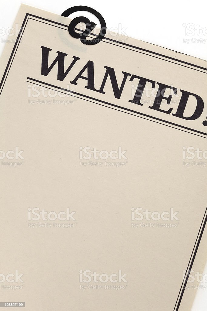 Wanted Online royalty-free stock photo