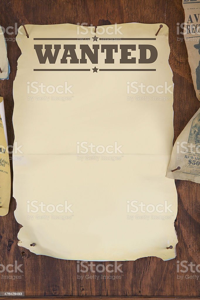wanted royalty-free stock photo