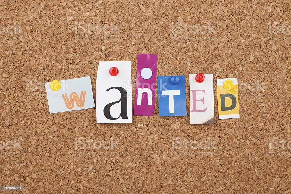 Wanted stock photo