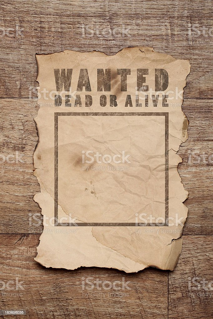 Wanted poster royalty-free stock photo