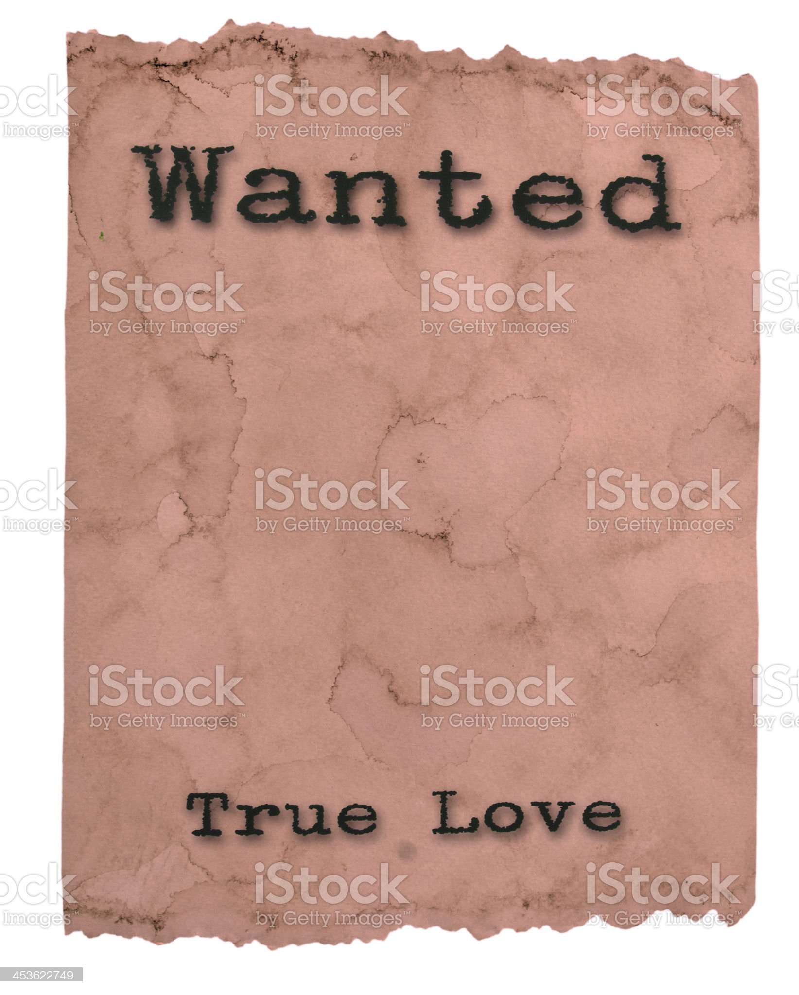 Wanted Poster True Love royalty-free stock photo