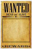 Wanted Poster Wild West