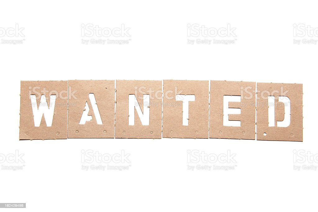 Wanted Stencil Word royalty-free stock photo