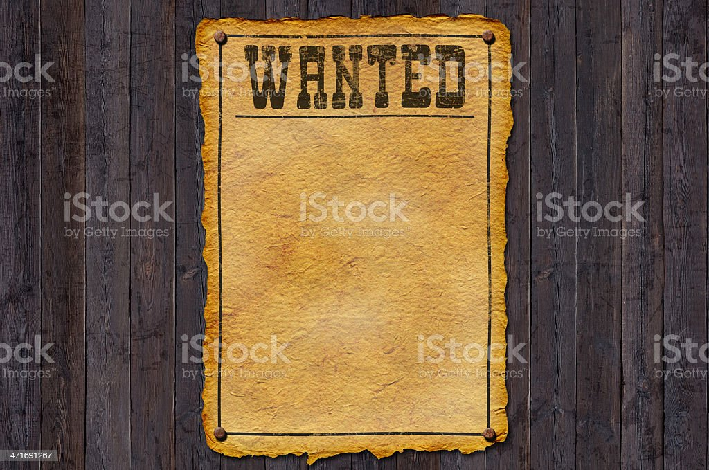 Wanted with Frame stock photo
