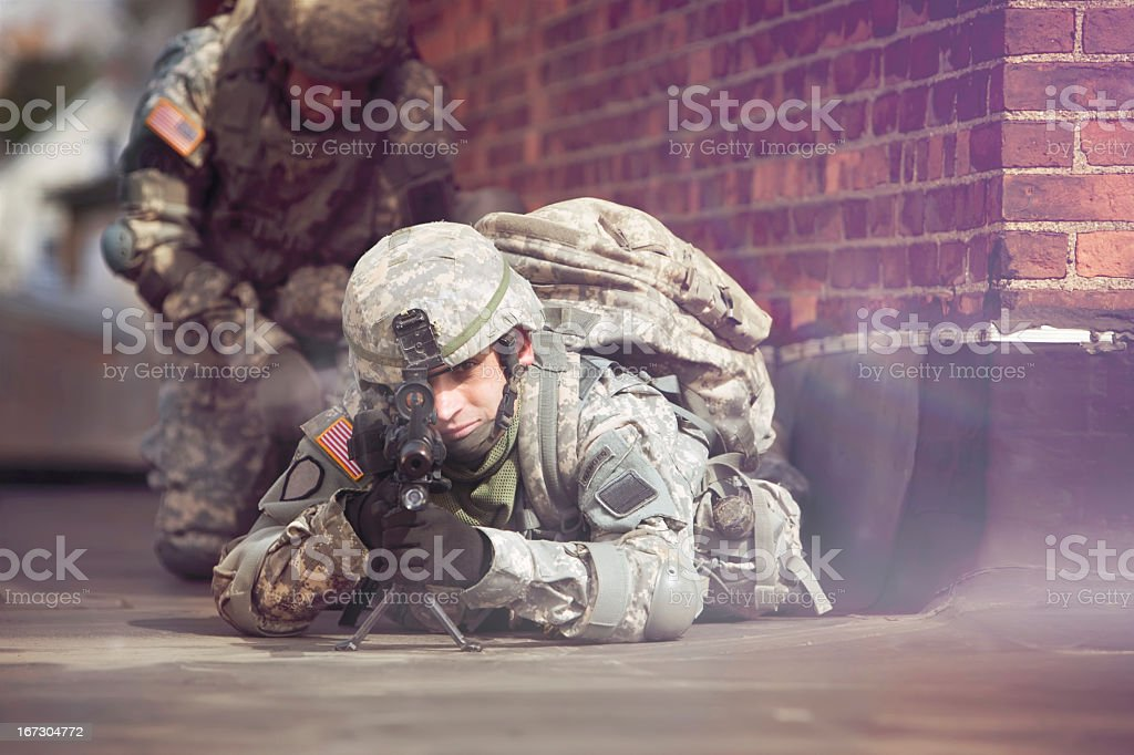 War Action royalty-free stock photo