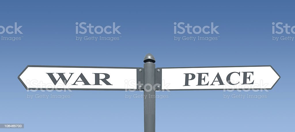War and Peace royalty-free stock photo
