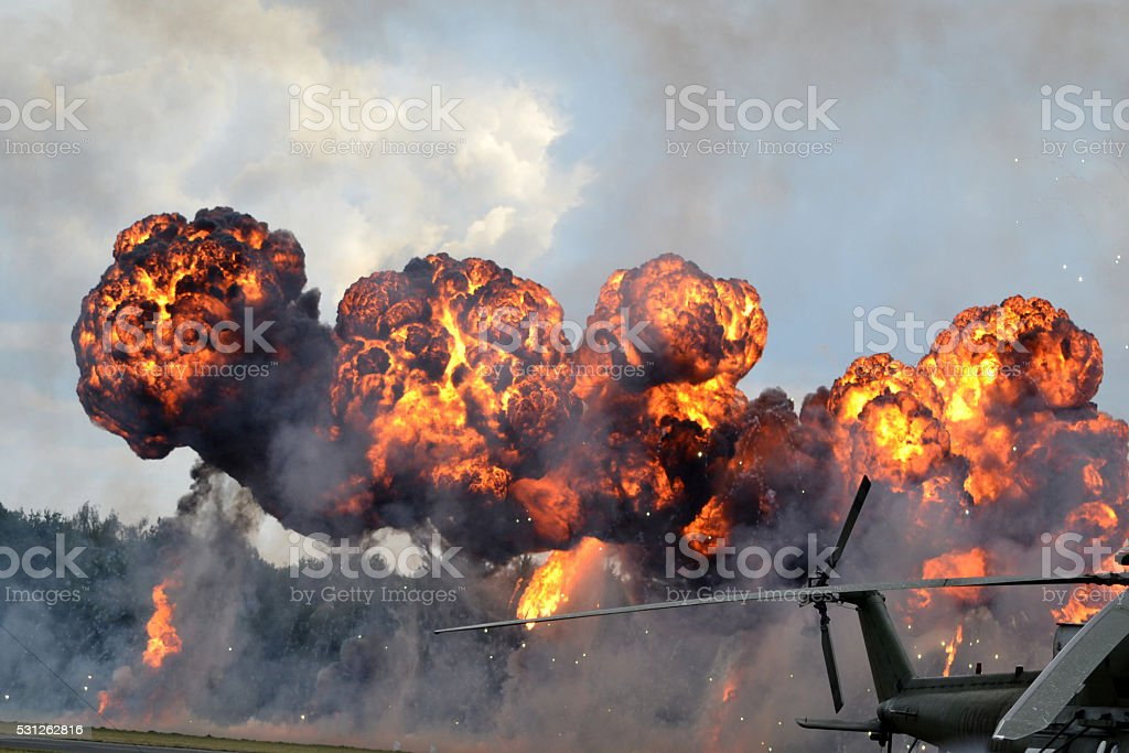 War - battlefield stock photo