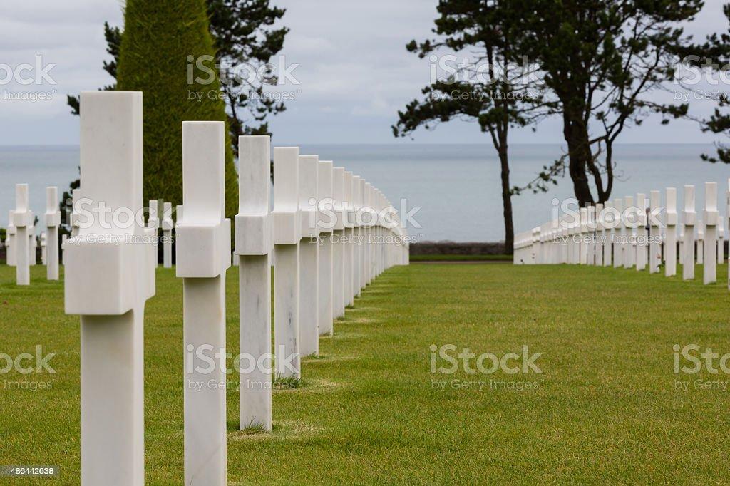 War cementery Normandy stock photo