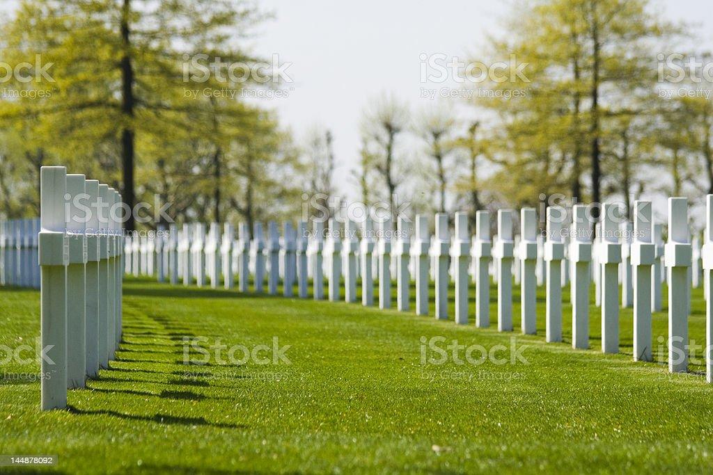 War Cemetary stock photo