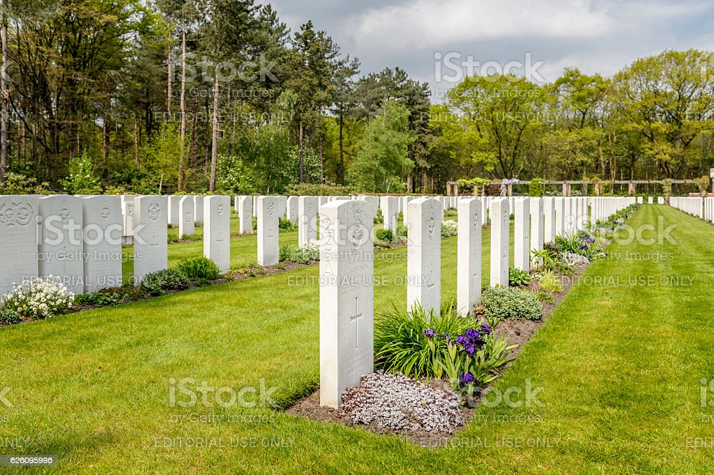 War Cemetery Bergen op Zoom stock photo