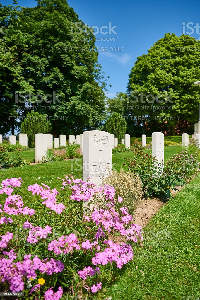 War Cemetery in Belgium stock photo