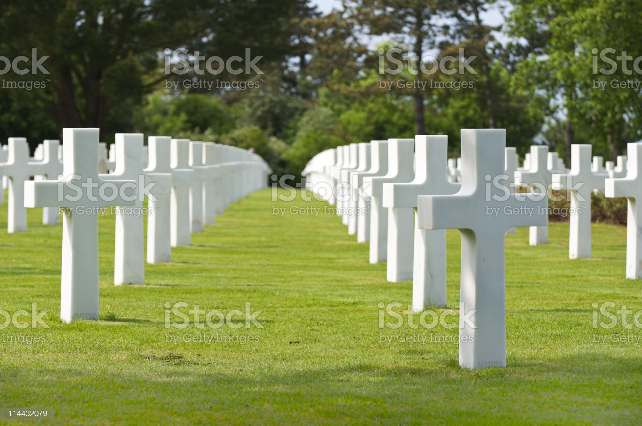 US War Cemetery in Normandy, France royalty-free stock photo