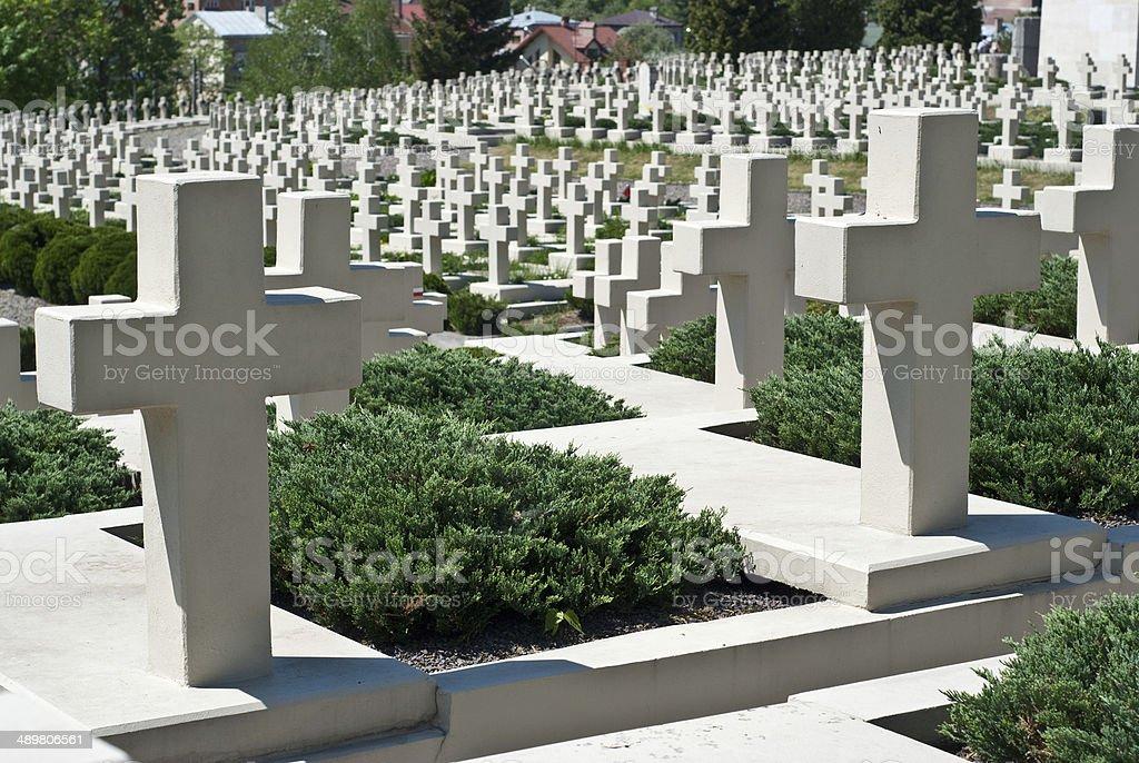 Cementerio de guerra foto de stock libre de derechos