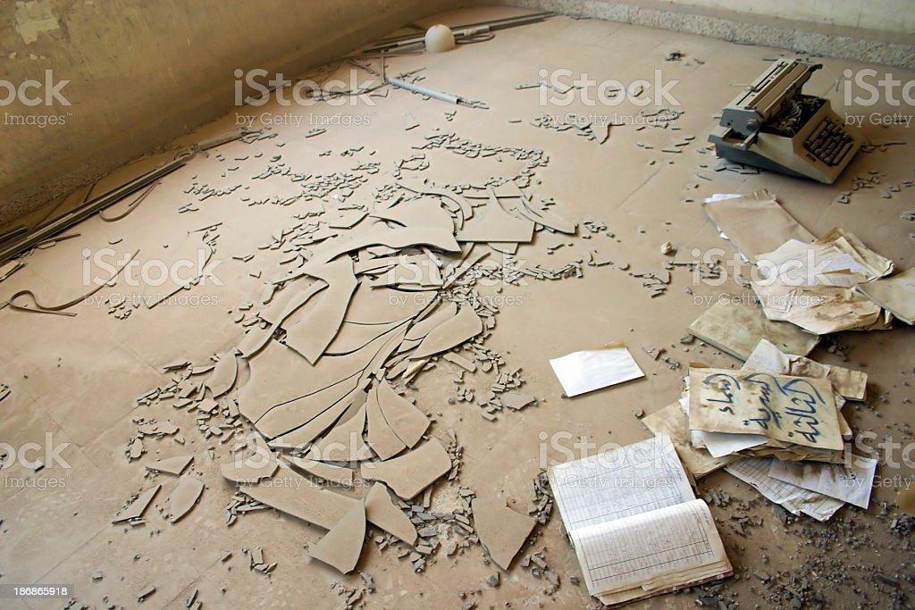 War Debris stock photo