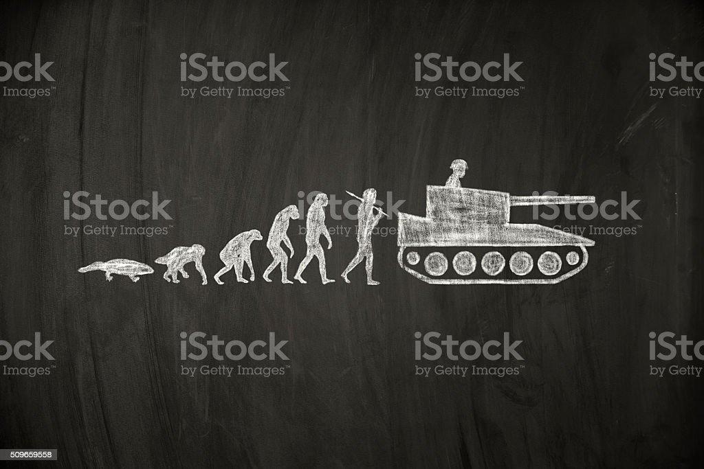 war evolution stock photo