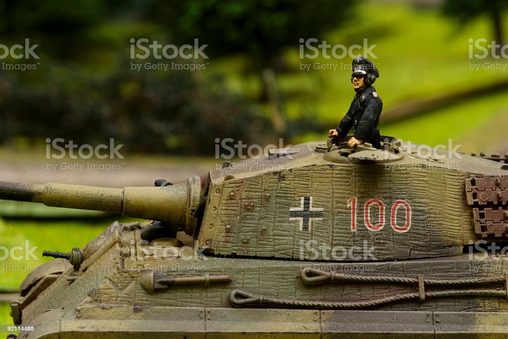 WWII war game 006 stock photo