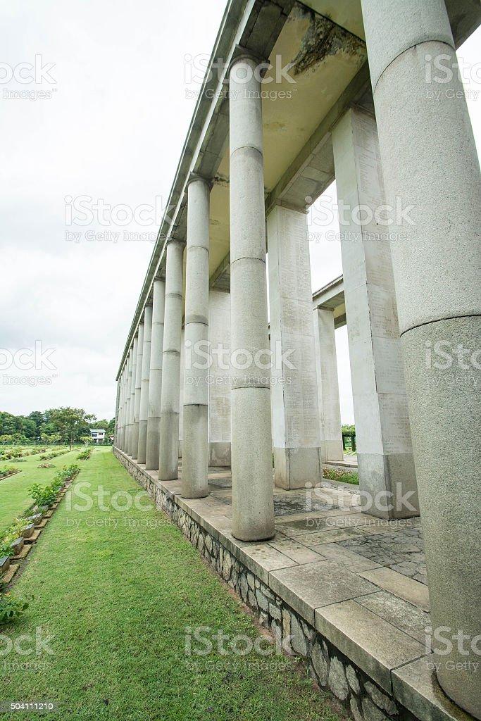 War graves at the Htauk Kyant war cemetery  in  Myanmar. stock photo