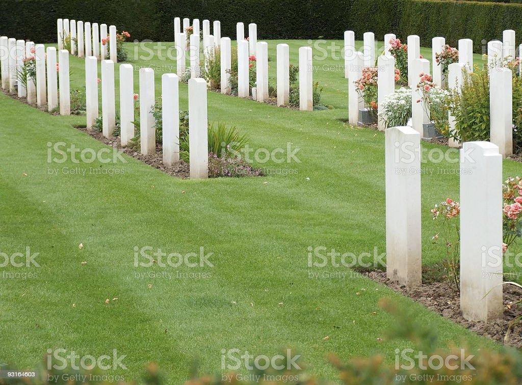 War Graves stock photo