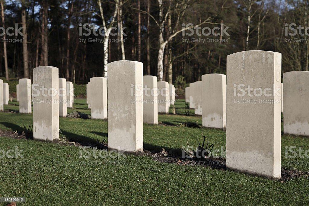 War gravestones royalty-free stock photo