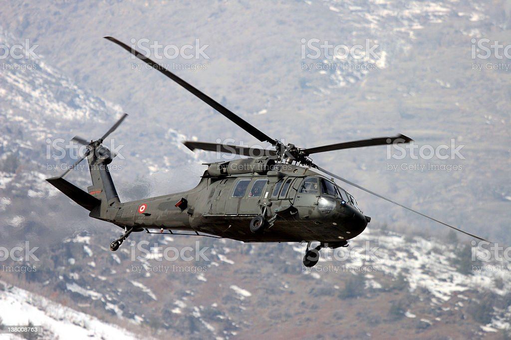 War Helicopter stock photo