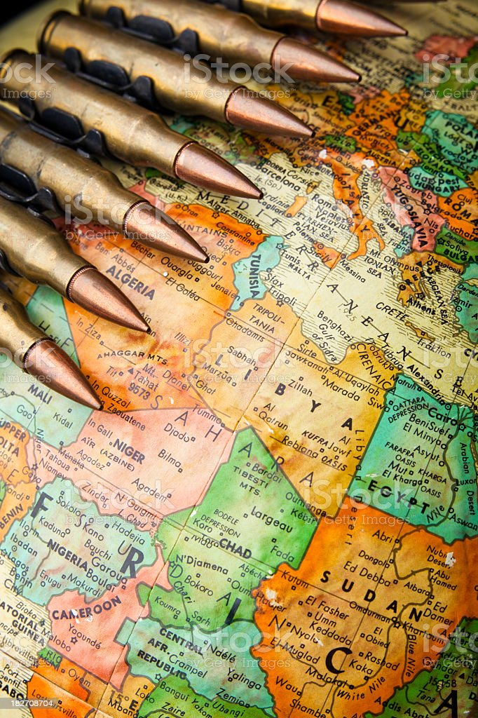War in Africa stock photo