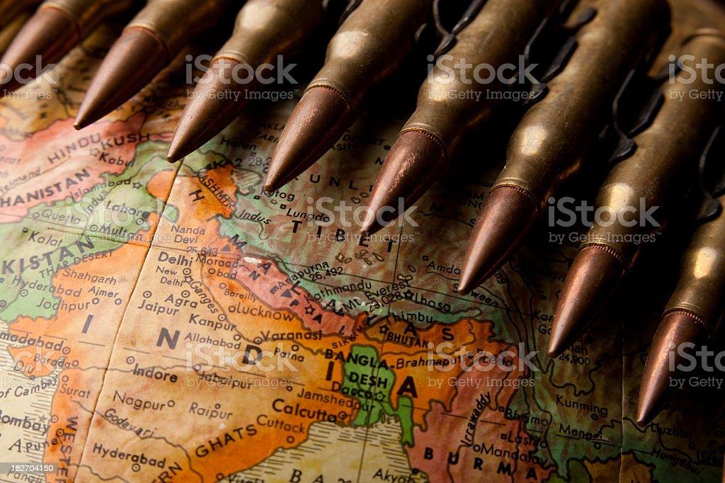 War in India stock photo