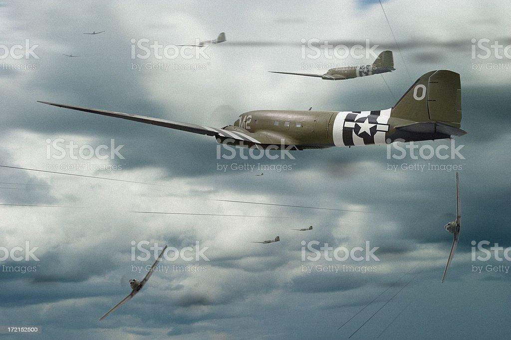War in the Sky stock photo
