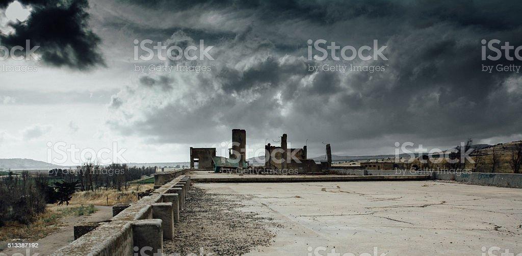 War landscape stock photo