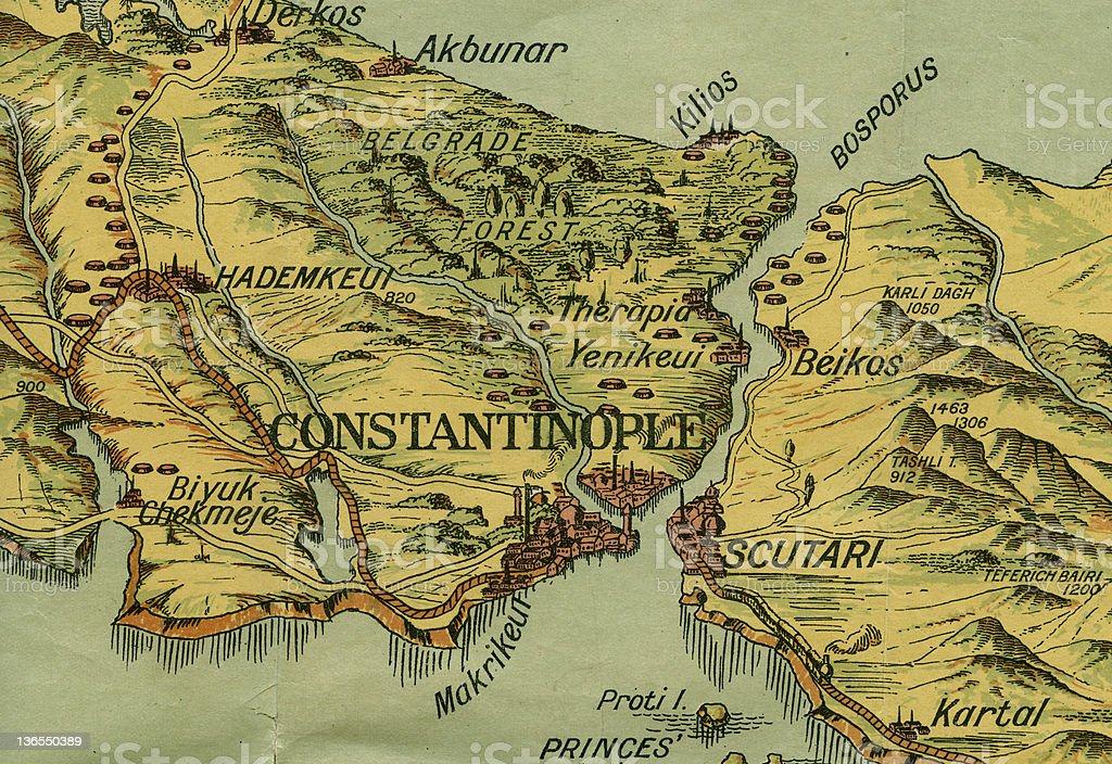 war map of constantinople stock photo istock