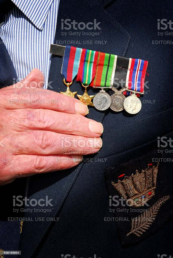 War medals stock photo