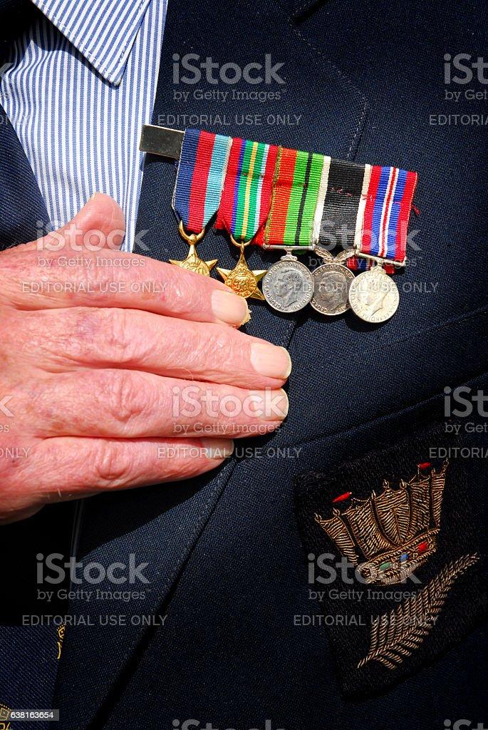 War medals stock photo