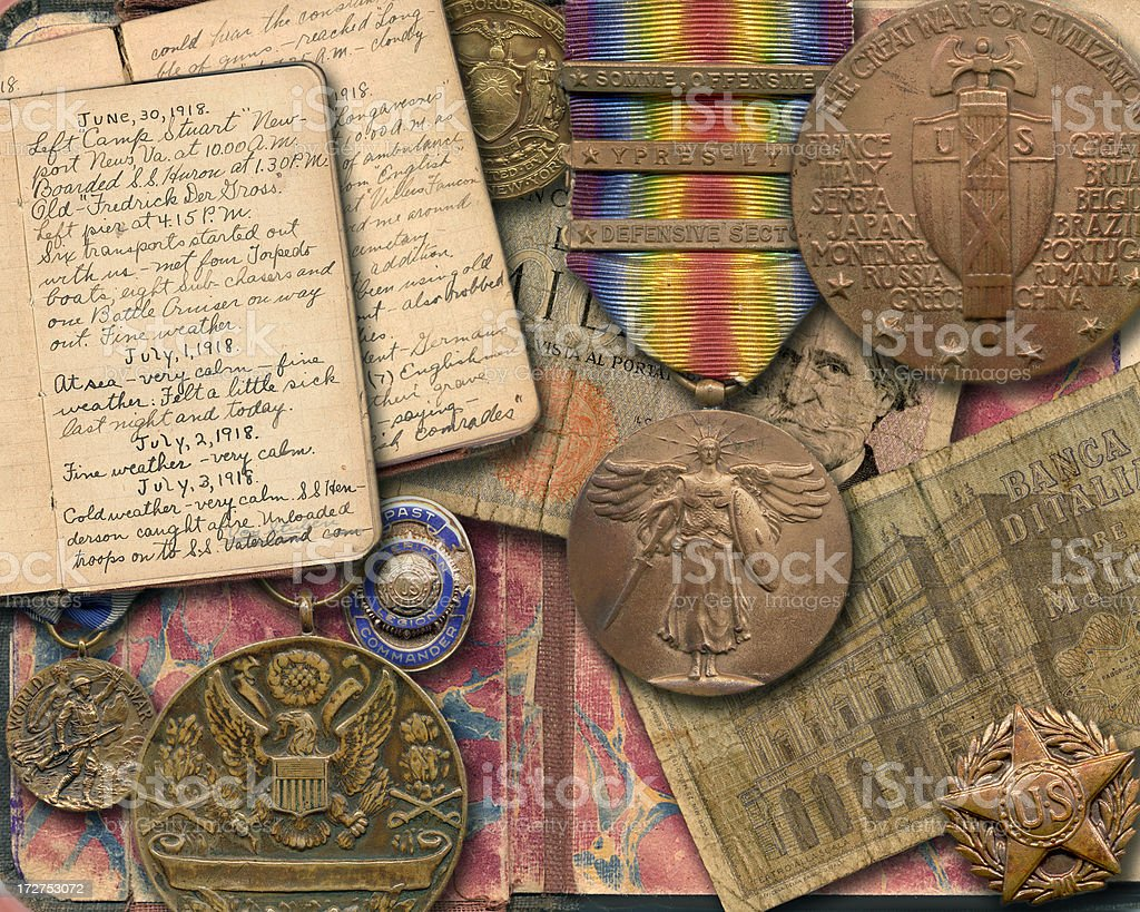 War Memorabilia stock photo