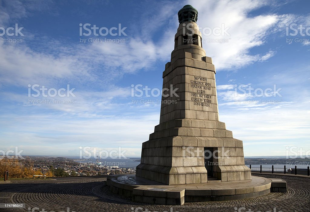 War Memorial at Dundee, Scotland stock photo