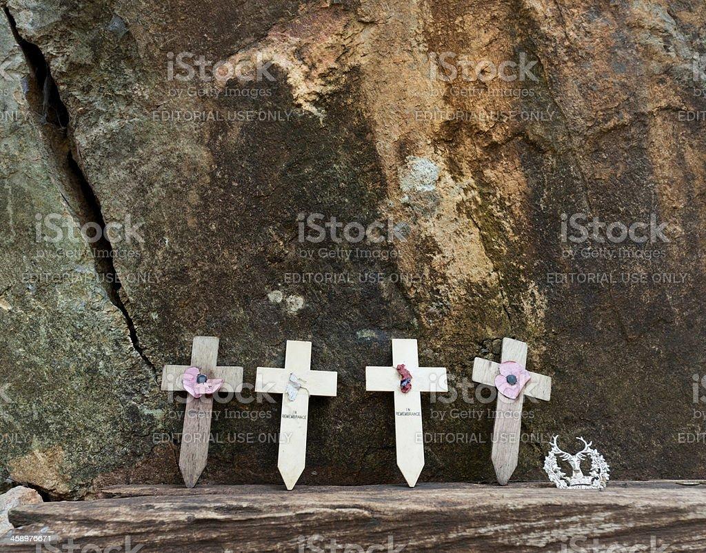 war memorial at Hellfire Pass Thailand royalty-free stock photo