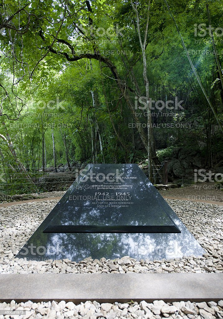 war memorial at Hellfire Pass Thailand stock photo